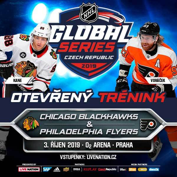 OPEN PRACTICE (team training) 2019 NHL GLOBAL SERIES - Prague O2 Arena - 3.10.2019
