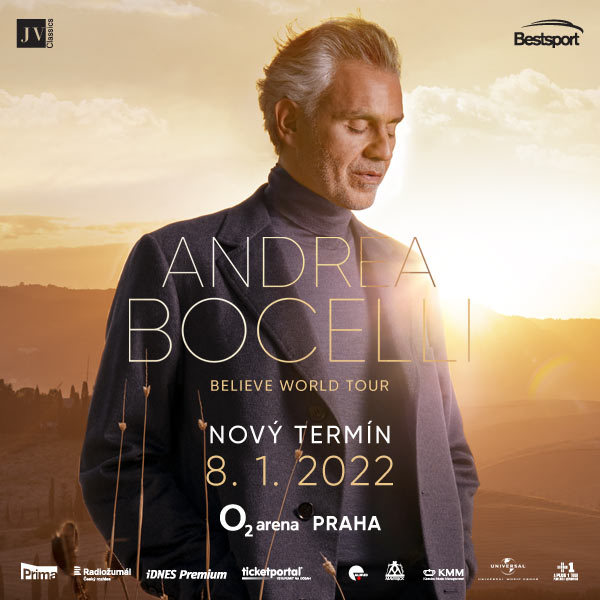 Andrea Bocelli| O2 arena  Prague 8.1.2022