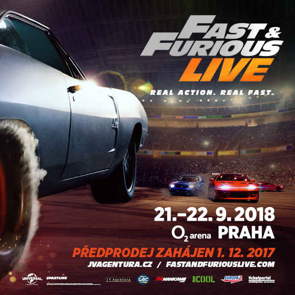 Fast and Furious Live | Prague O2 Arena - 21. - 22.9.2018