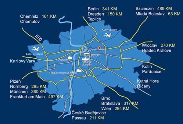 O2 - mapa Praha